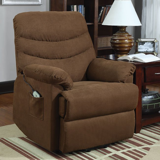 Elevated Power Lift Chair (Brown)
