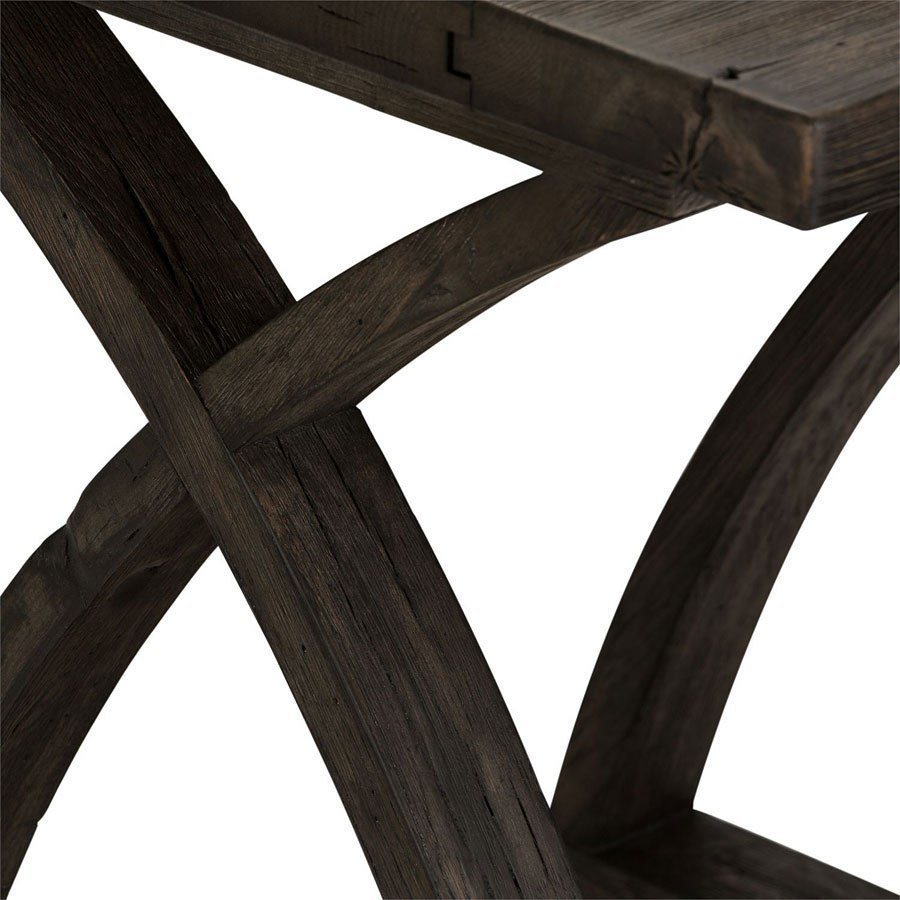 Twin oaks chair side table charcoal