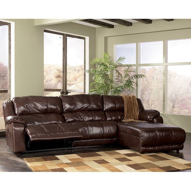 Braxton   Java Right Facing Chaise 3 Piece Sectional