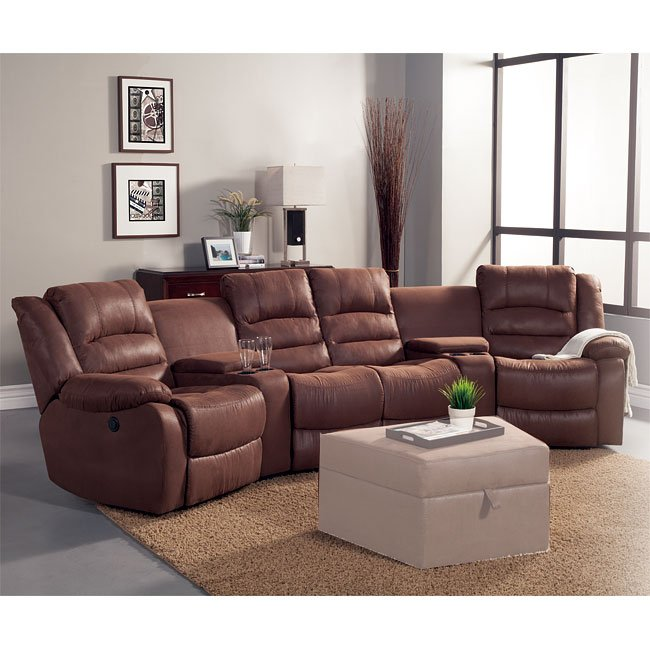 Tucker Theater Sectional w/ Power