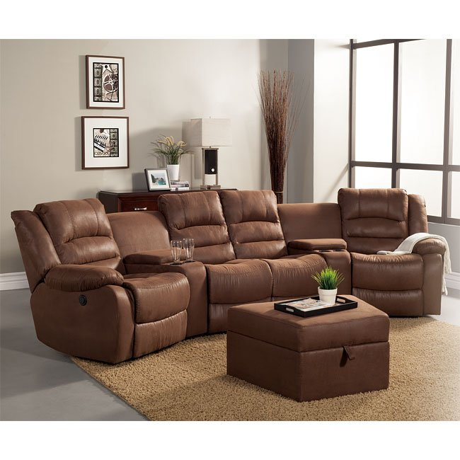 Tucker Power Theater Sectional Set