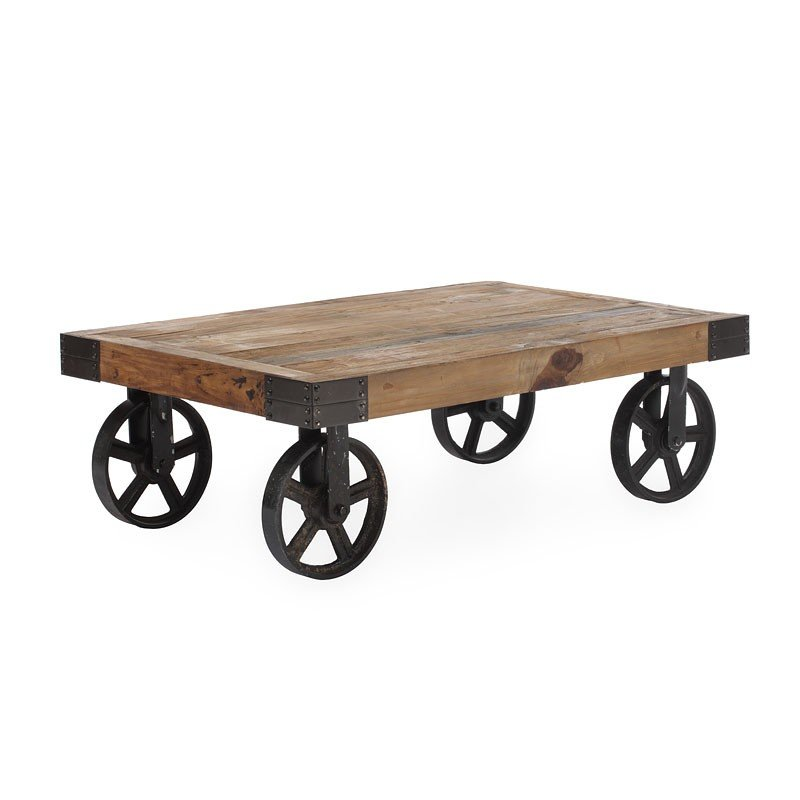 Barbary Coast Cart Table Distressed Natural Zuo Modern