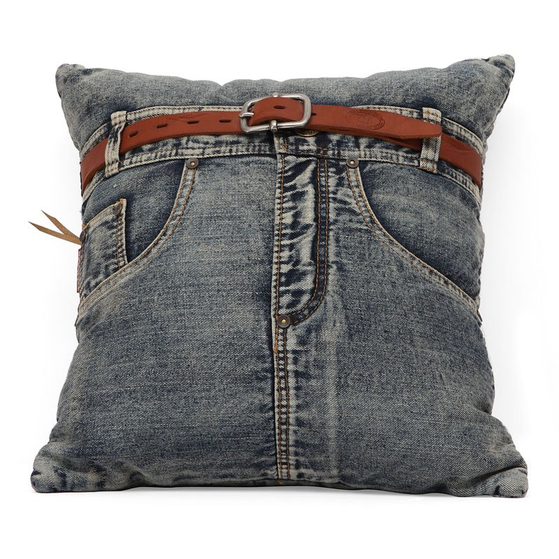 Jean Cushion (Blue Denim w/ Front Jean)