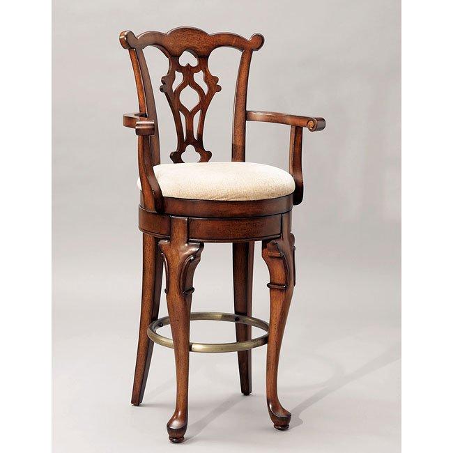 Jamestown Landing Swivel Barstool Powell Furniture