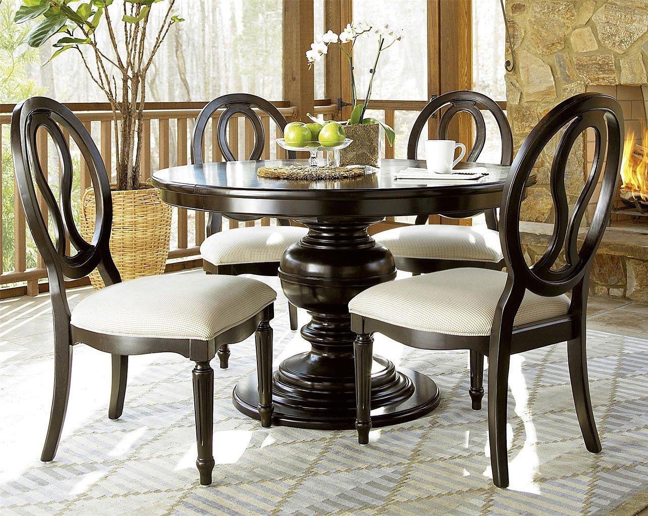 Summer Hill Round Dining Room Set (Midnight)