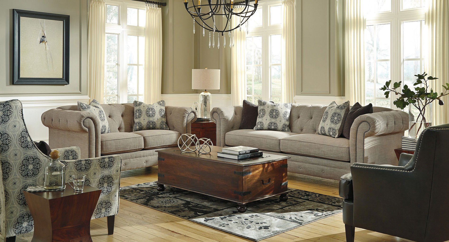 Azlyn Sepia Living Room Set Benchcraft 1 Reviews
