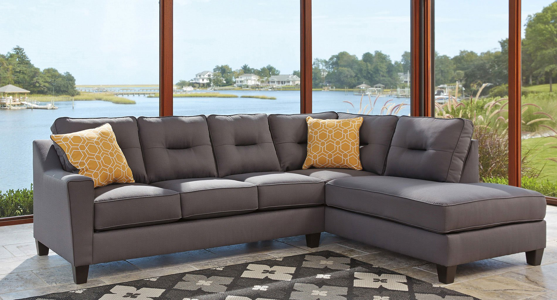 Incredible Kirwin Nuvella Gray Right Chaise Sectional Home Interior And Landscaping Palasignezvosmurscom