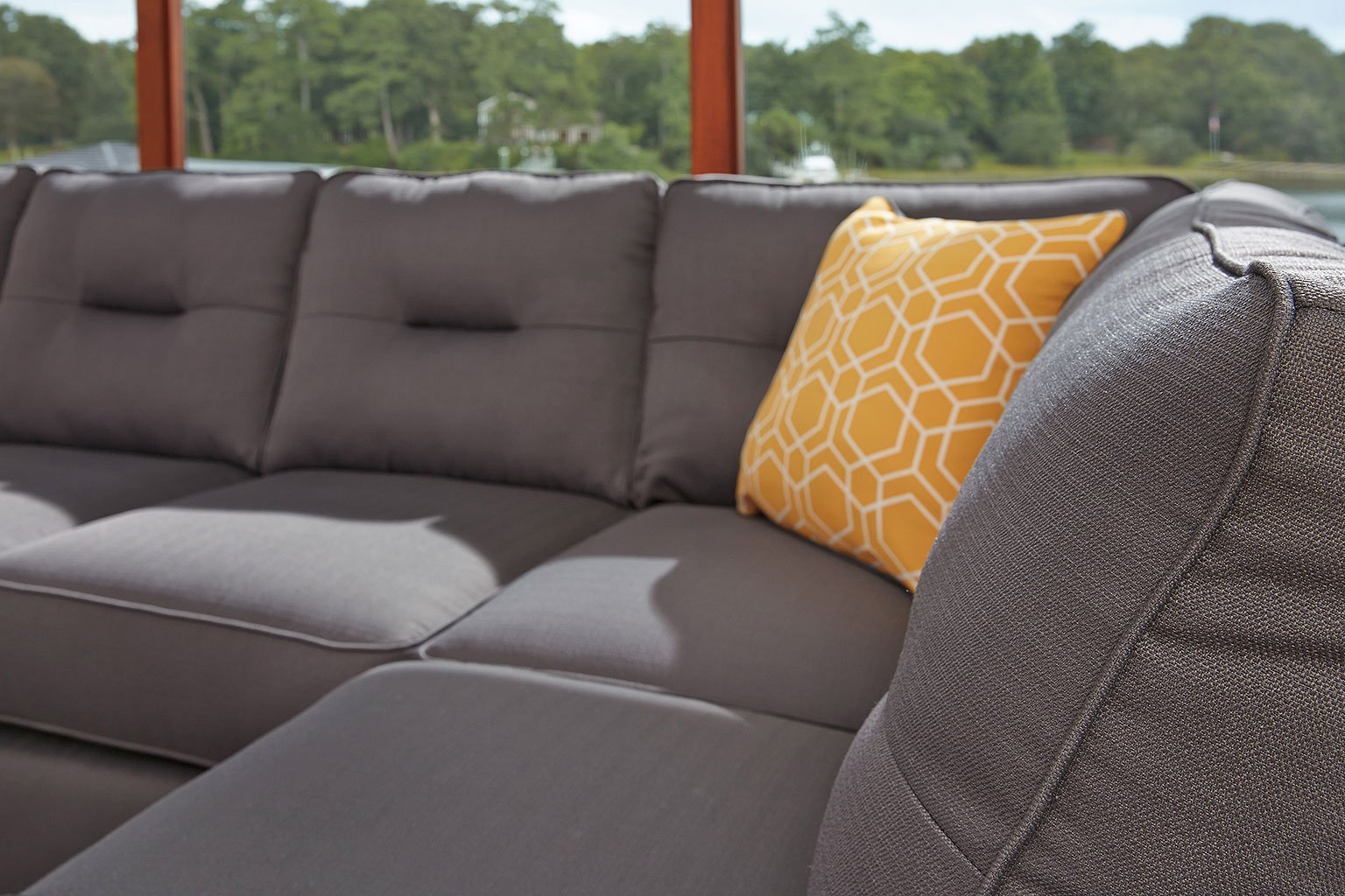 Swell Kirwin Nuvella Gray Right Chaise Sectional Home Interior And Landscaping Palasignezvosmurscom