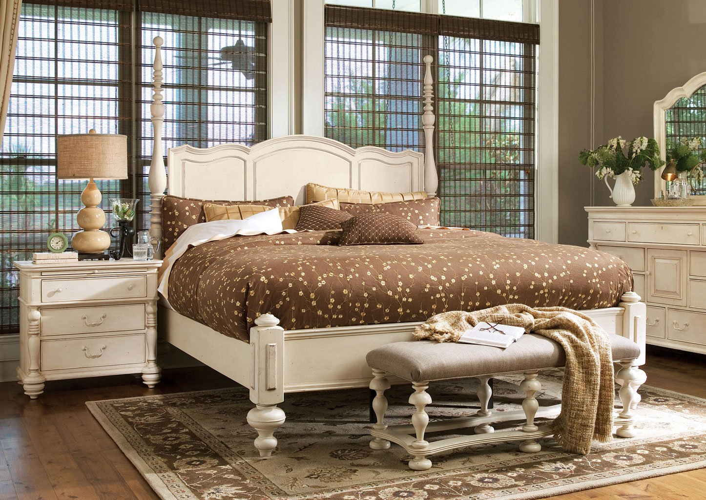 Paula Deen Home Savannah Poster Bedroom Set Linen Paula