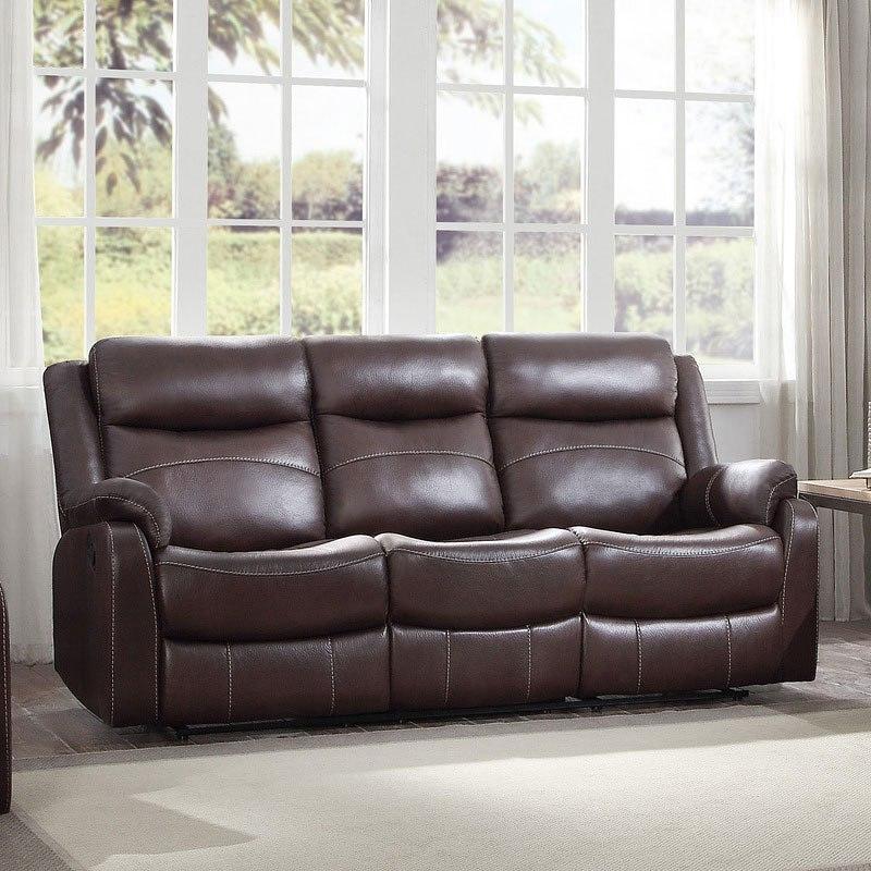 Yerba Lay Flat Reclining Living Room Set (Dark Brown