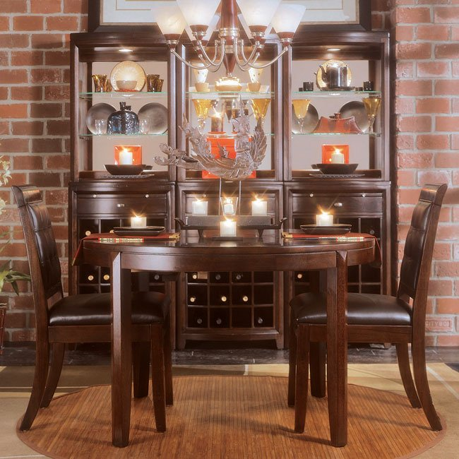 Tribecca Round Dinning Room Set W/ Splat Chairs American