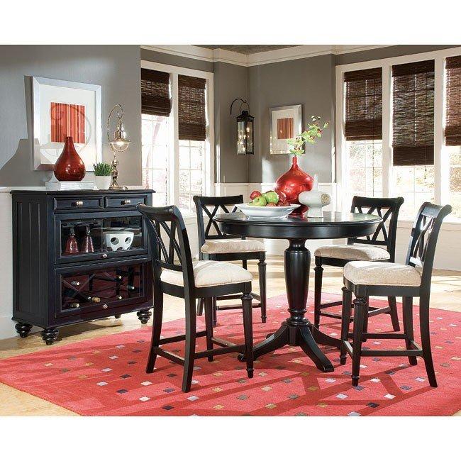 Camden Dark Bar Height Dining Room Set American Drew