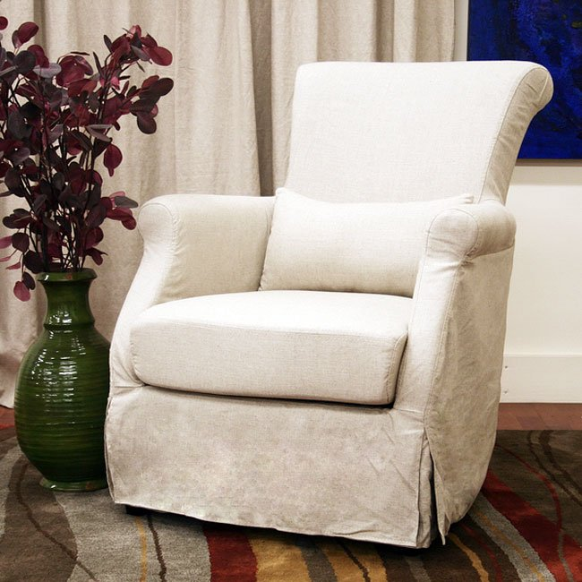 Carradine Beige Slipcover Club Chair