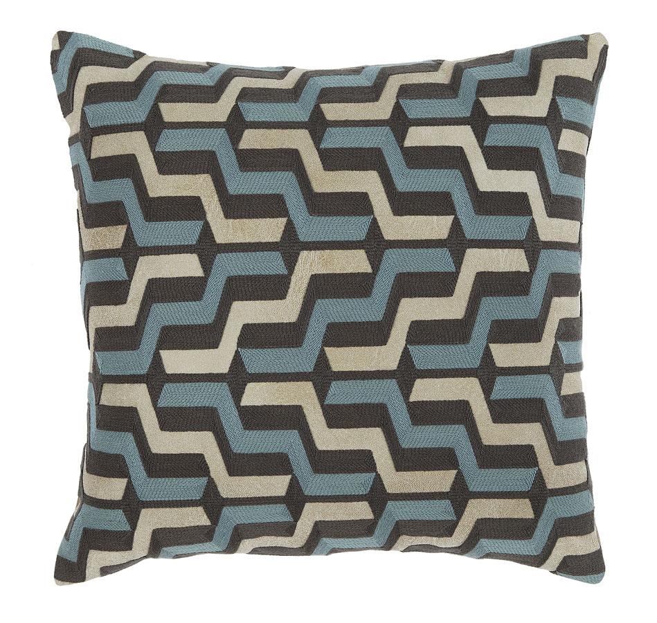Babette Pillow (Blue/Gray) (Set of 4)