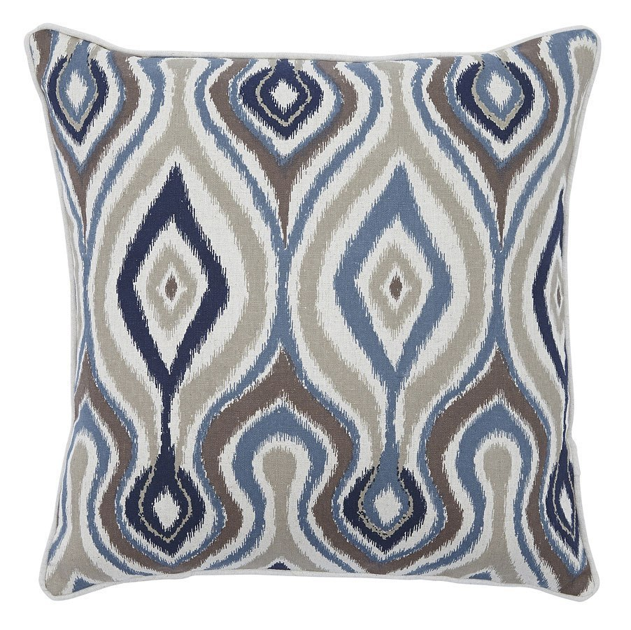 Russell Pillow (Brown/Blue) (Set of 4)