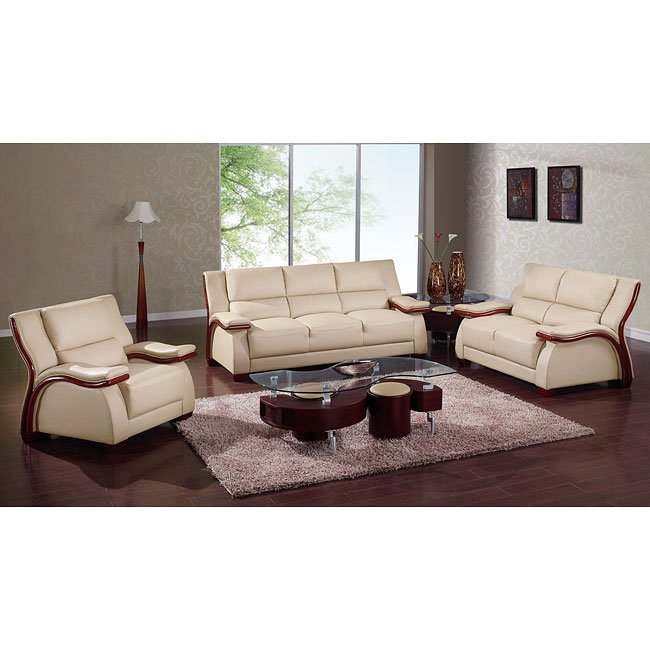 A167 Cappuccino Modern Living Room Set