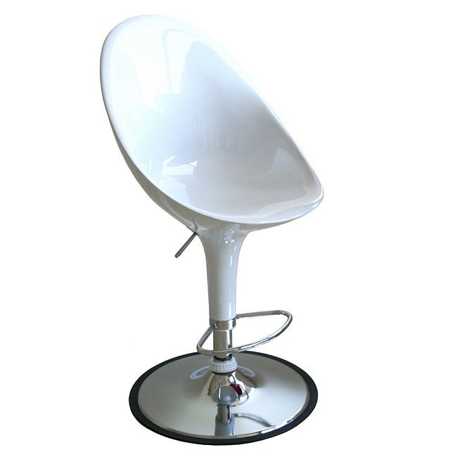 Mu Bar Stool (White) (Set of 2)