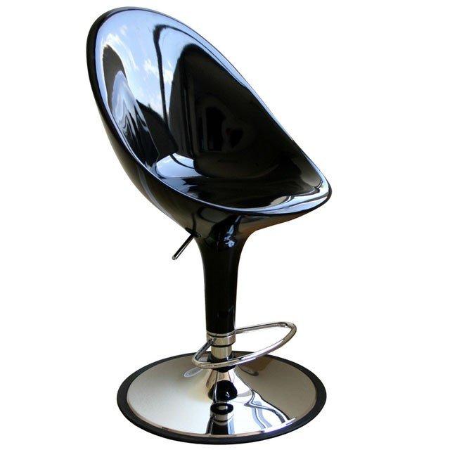 Mu Bar Stool (Black) (Set of 2)
