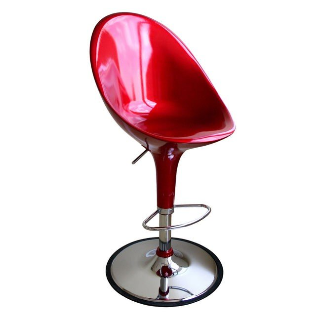 Mu Bar Stool (Red) (Set of 2)