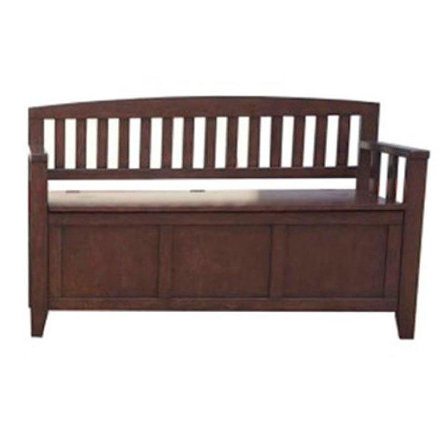 Charvanna Brown Storage Bench Signature Design