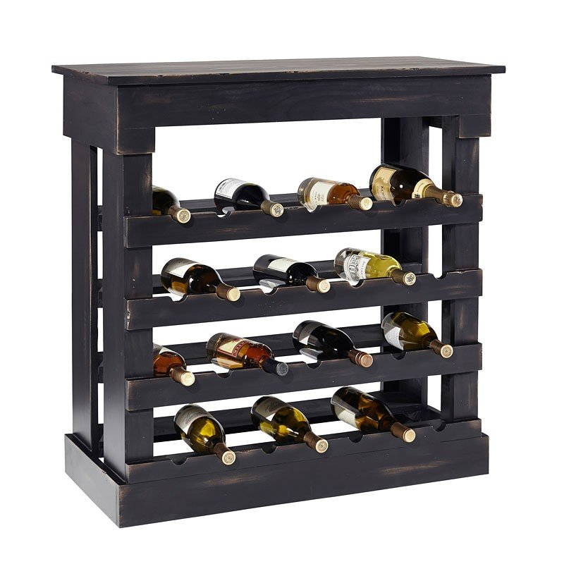 Porter Wine Console (Distressed Ink)