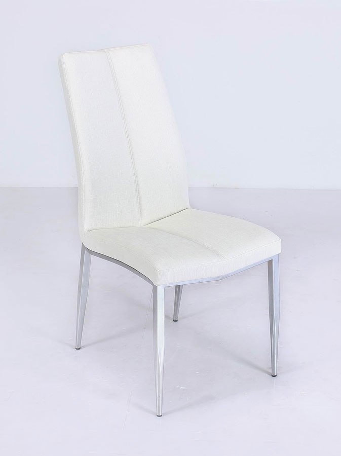 Abigail Side Chair Textured White Set Of 4 Chintaly