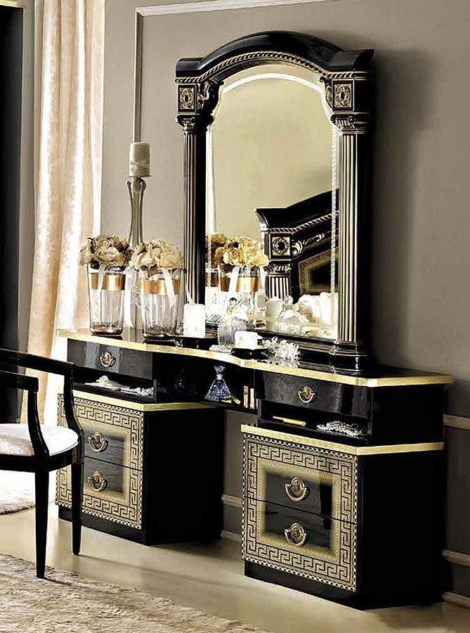 Aida Vanity Dresser Black And Gold