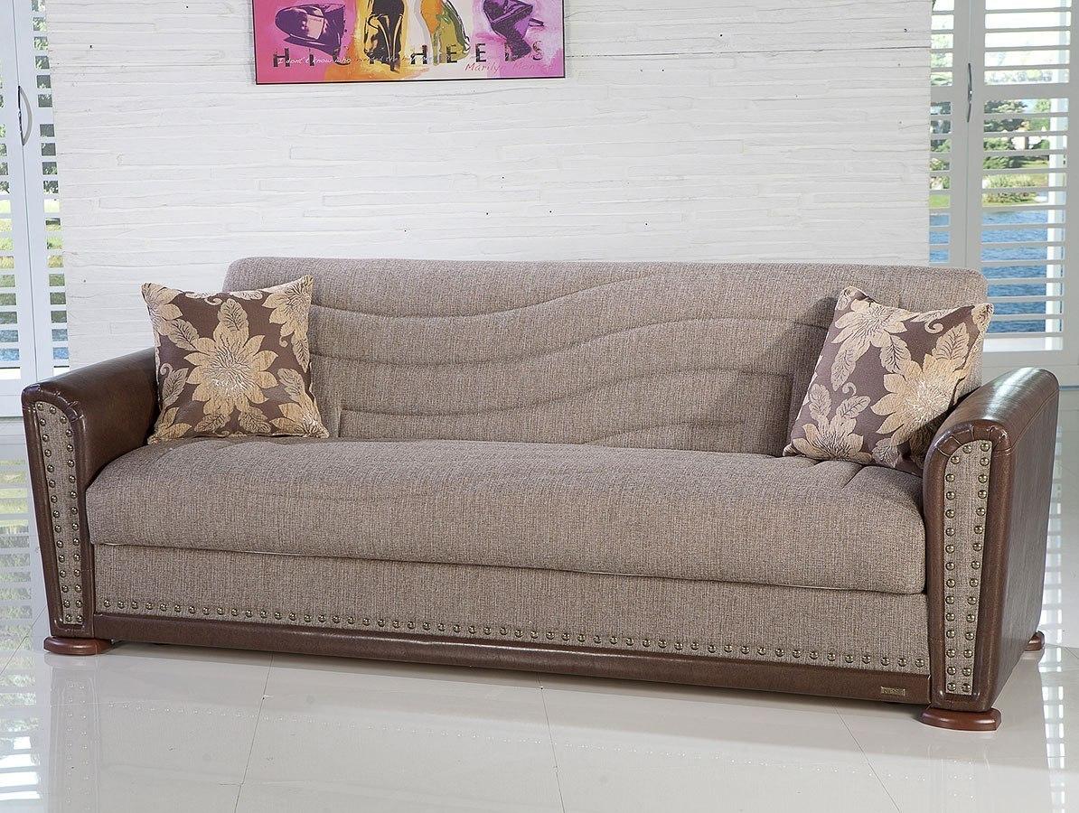 Alfa 3 Seat Sleeper (Redeyef Brown) By Istikbal Furniture