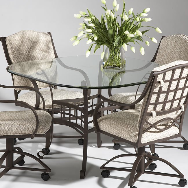 Wrought Iron Kitchen Tables: Wrought Iron Dining Room Set Chintaly Imports