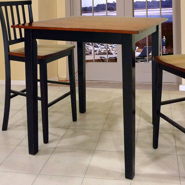 Beau Arlington 42 Inch Pub Table (Black/Java)