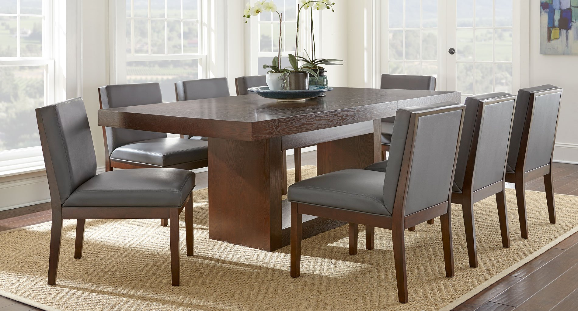antonio dining room set w emma gray chairs steve silver furniture rh furniturecart com Emma and Ellie's Room Emma's Room Signs