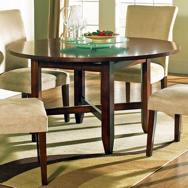 Avenue Round Dining Room Set W/ 54 Inch Table Steve Silver ...