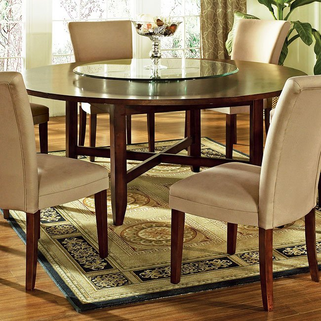 Avenue 72 Inch Round Dining Table Steve Silver Furniture | Furniture Cart