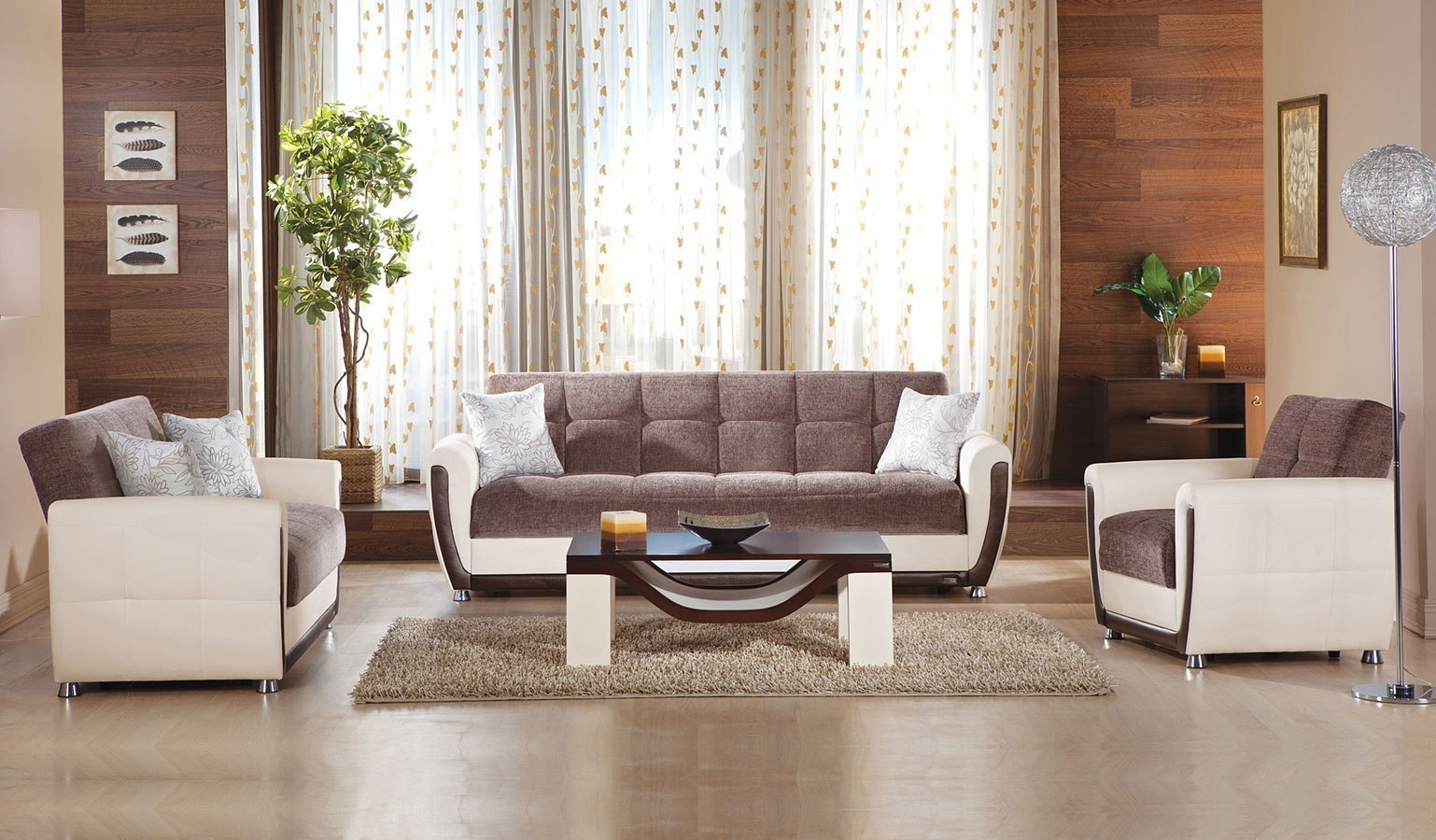 Avella Living Room Set Jennefer Brown Istikbal Furniture Cart