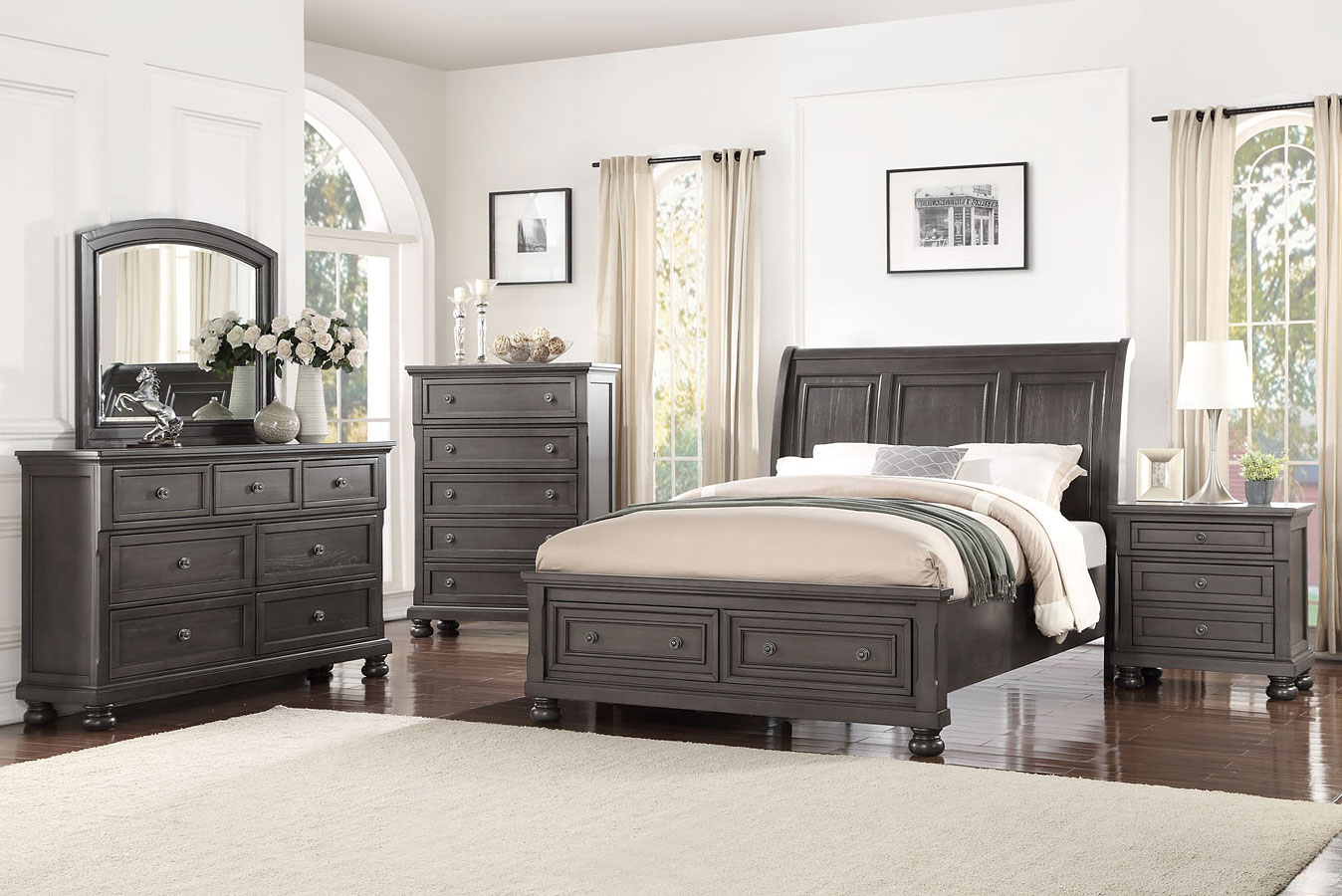 Soriah Sleigh Storage Bedroom Set Avalon Furniture
