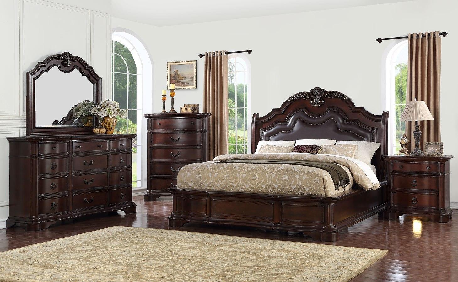 St Louis Upholstered Bedroom Set Avalon Furniture | Furniture Cart