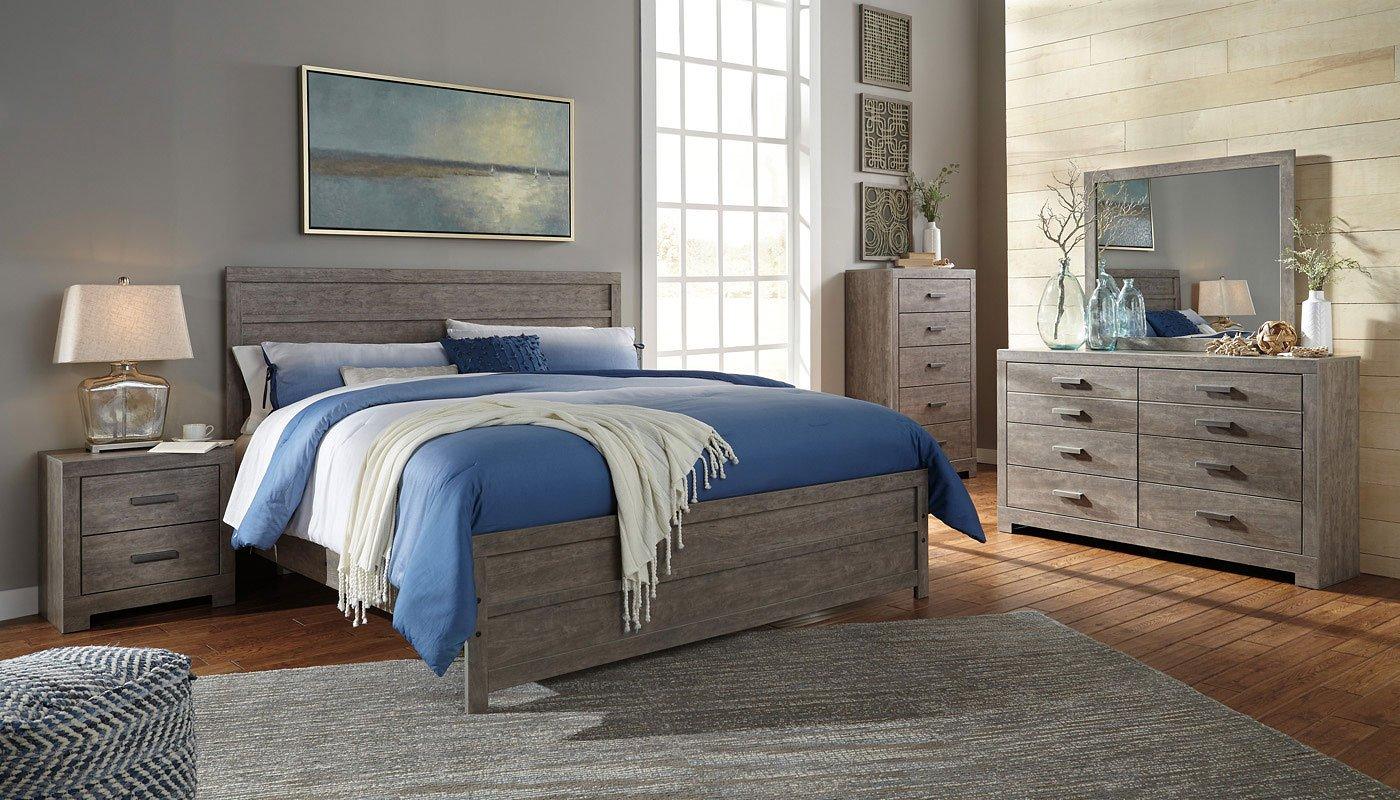 culverbach panel bedroom set signature design furniture cart