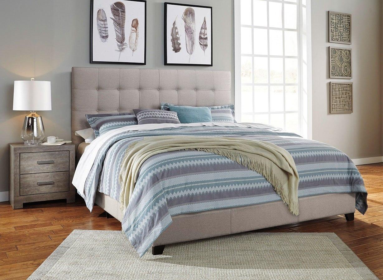 Culverbach Bedroom Set W Beige Upholstered Bed Signature