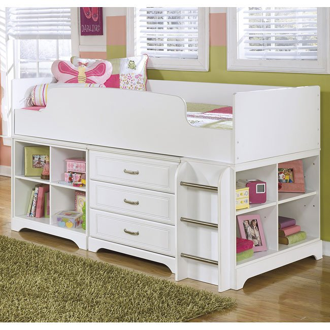 Lulu Loft Bed w/ Drawers and Shelves
