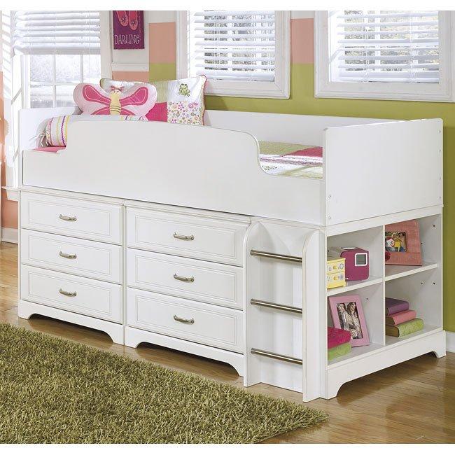 Lulu Loft Bed w/ Six Drawers and Shelves