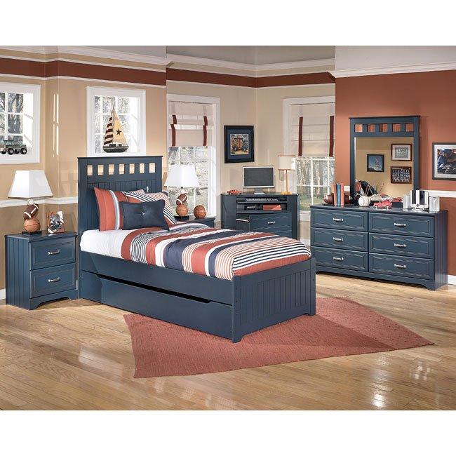 Leo Panel Bedroom Set w/ Trundle