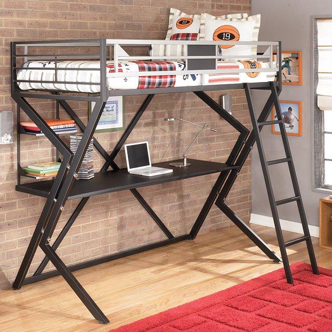 Fantastic Dinsmore Twin Desk Loft Bed Home Interior And Landscaping Ponolsignezvosmurscom
