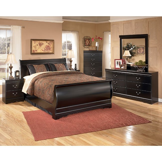 50 Sleigh Bed Inspirations For A Cozy Modern Bedroom: Huey Vineyard Sleigh Bedroom Set Signature Design, 1