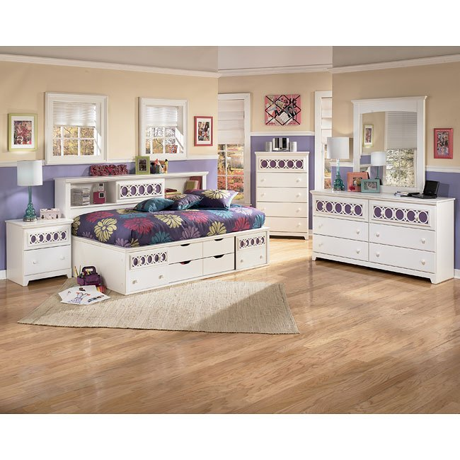 Zayley Bookcase Bedroom Set Signature Design 3 Reviews Furniture Cart