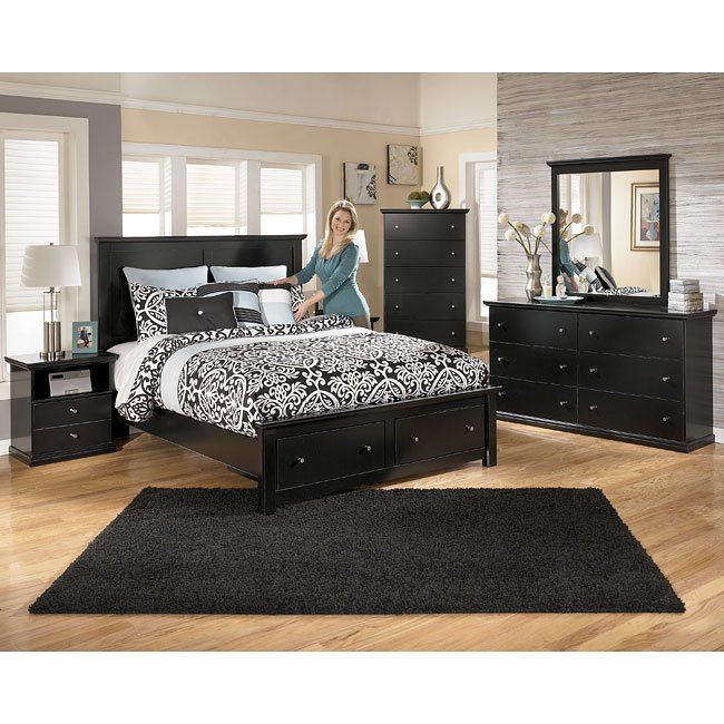 Ashley Furniture Black And White Bedroom Set Bedroom Yellow Paint Luxurious Bedrooms For Girls Colour Combination For Bedroom: Maribel Storage Bedroom Set Signature Design