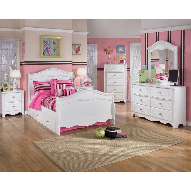exquisite sleigh bedroom set signature design 6 reviews 11523 | b188 a slgh br set 6