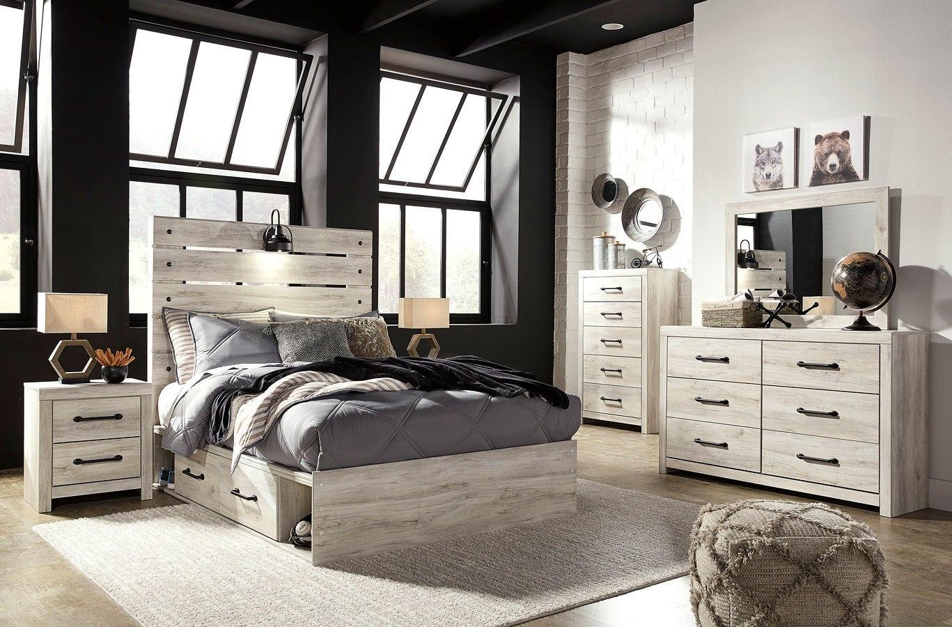 Cambeck Youth Panel Bedroom Set W/ Underbed Storage ...