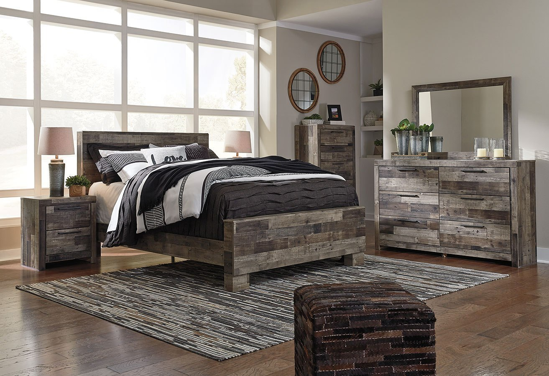 Derekson Panel Bedroom Set Benchcraft Furniture Cart