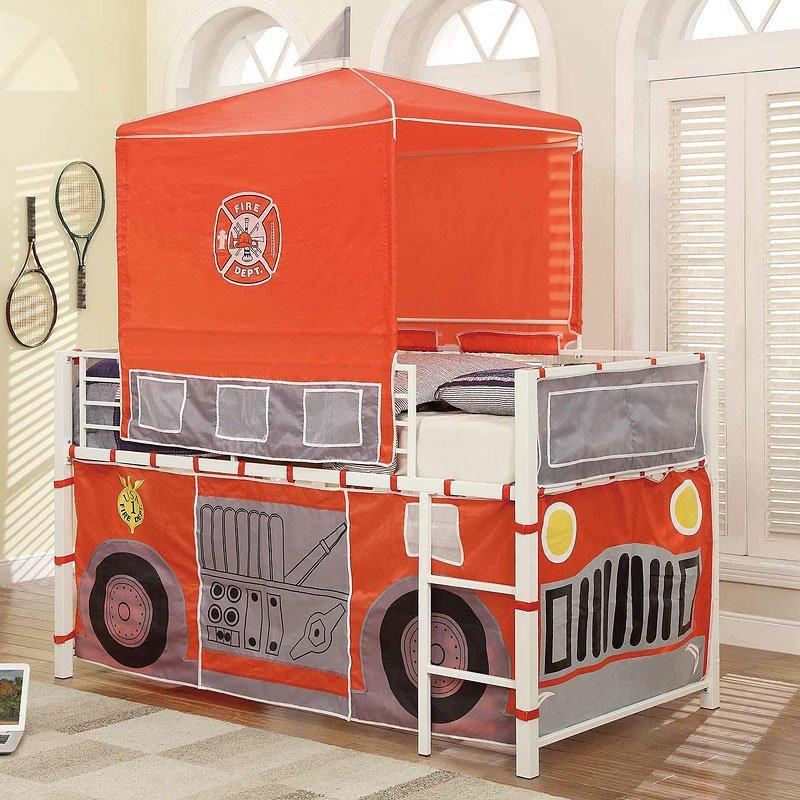 Combustion Loft Bed Fire Truck Homelegance Furniture Cart
