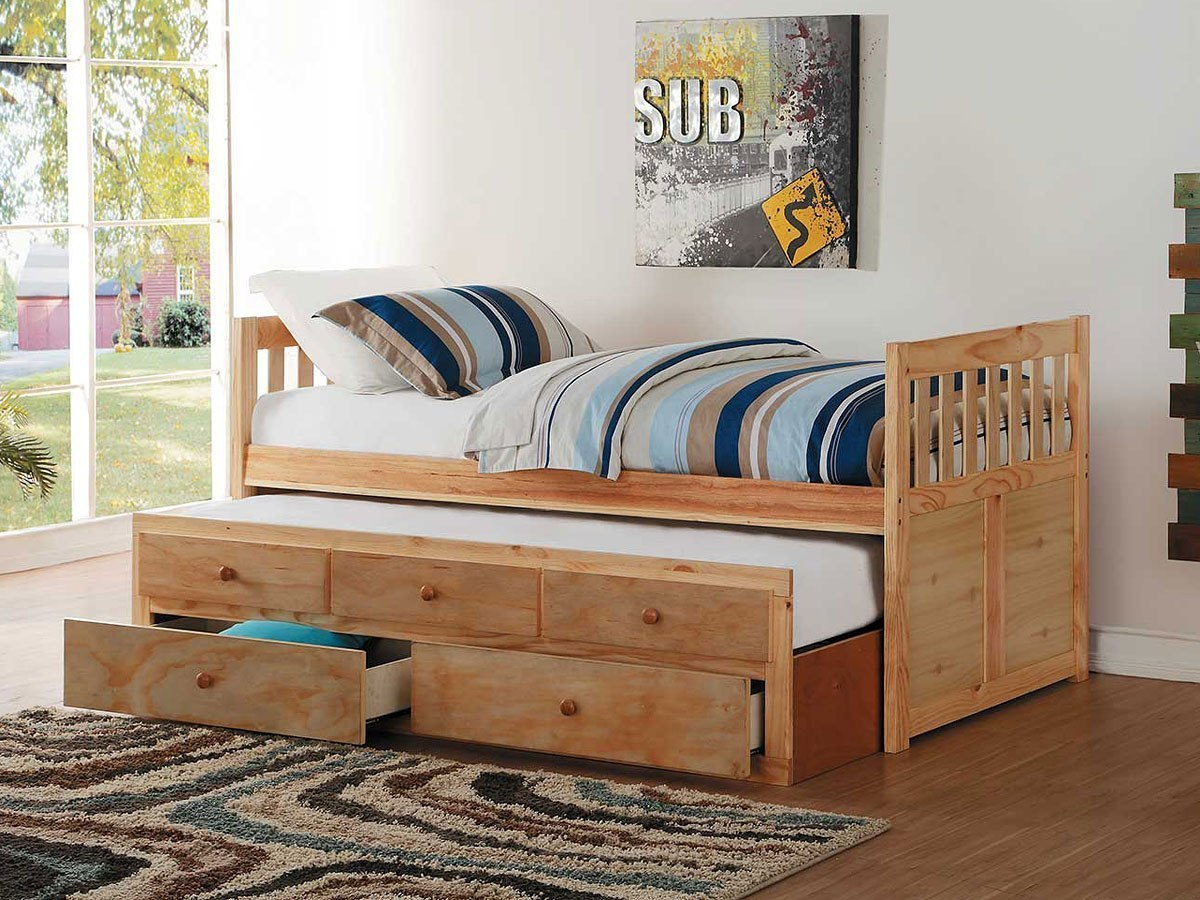 Bartly Twin Trundle Bed w/ Storage Drawers